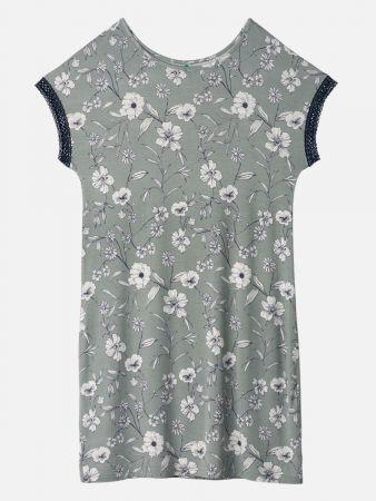 Charming Floral - Nachthemd - Hellgrün-Bunt